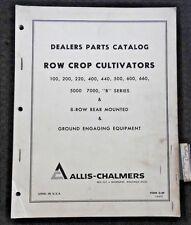 ALLIS CHALMERS 400 440 500 600 660 5000 7000 ROW CROP CULTIVATOR PARTS MANUAL