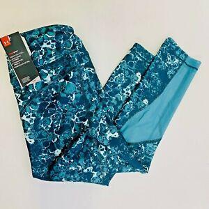 Under Armour Compression  Green Print Carpi Leggings Womens Sz Small NWTSs(E28)