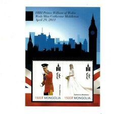 Mongolia - Royal Wedding Prince William and Kate Middleton Stamp -S/S MNH
