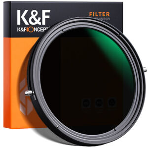 K&F Concept ND2-ND32+CPL lens filter 2 in 1 function 49-82mm variable No X cross