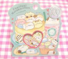 KAMIO JAPAN / Funifuni Marshmallow Flake Sticker / Japanese Stationery Cat Dog