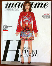Madame Figaro du 20/05/2016; Huppert par Angot/ Le luxe fait son cinéma/ Cooper