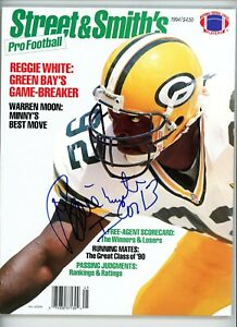 Reggie White Packers '94 Street & Smiths Magazine signed autographed Beckett LOA