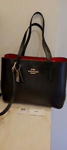 New Coach LTH Avenue Carryall Black with red interior $398 handbag