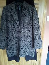 Dialogue  brown jacket and trouser set size M ex qvc