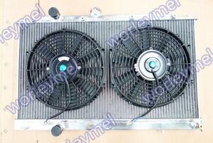 Aluminum Radiator & Fans for Mitsubishi Lancer EVO 4 5 6 IV V VI 96-01 Manual