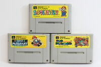 Lot 3 Mario World Kart All Stars Collection SFC Super Famicom SNES Japan Import