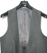 M&S Mens Waistcoat Grey Rounded V Neck Tailored Fit BNWT Marks