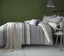 Retrace Stripe Charcoal Duvet Cover