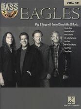 EAGLES BASS GUITAR play-along Scheda Music Libro con CD vol 49 Hotel California