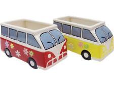 2 Assorted Ceramic Vw Bus Planters
