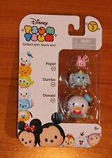 New Disney TSUM TSUM Piglet - Dumbo - Donald Duck Stack'em Series 1 3 Pack