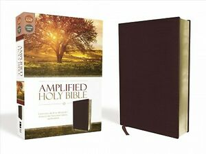 Amplified Holy Bible : Burgundy, Bonded Leather: Captures the Full Meaning Be...