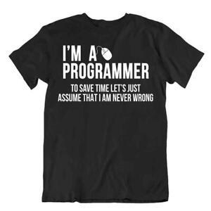 I Am A Programmer T-Shirt Classic Cool Tee Tricote Comic Shirt