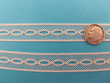 "French Heirloom Cotton Lace Beading 5/8""Wide Ivory Fashion/Craft/Doll Lace 6208I"