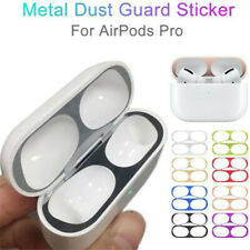 1 Pair Film Sticker Dust Guard For Apple AirPods Pro Metal Protective Cover