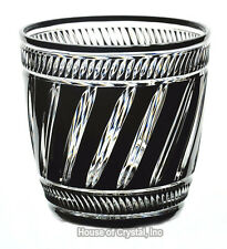 Faberge Black Cased Cut to Clear Crystal Marie Louise Ice Bucket New Signd NoBox