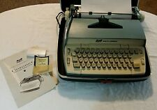 Vintage Smith Corona Coronet Portable Electric Typerwriter With Carry Case