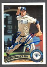 2011 TOPPS #561  Luke Gregerson  SAN DIEGO PADRES  SIGNED AUTOGRAPH AUTO COA