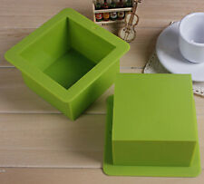 Practical Square Silicone Chic Cake Cube Bread Mold Baking Tool-9*9*6.5cm/500ml