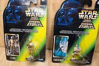 Vtg 1996 Kenner Star Wars La Guerra De Las Galaxias Spanish Diecast 2 Figure Lot
