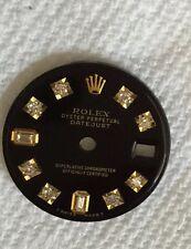 Rolex Ladies Datejust Glossy Black 8+2 Custom Diamond Dial 2-T