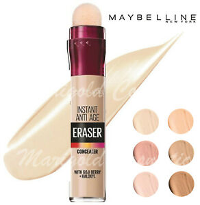 NEW Maybelline Instant ANTI-AGE Eraser Concealer FULL COVERAGE Under Eye SEALED