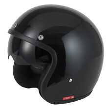 V-CAN V537 (RS-V06) OPEN FACE SCOOTER MOTORCYCLE RETRO HELMET GLOSS, MATT BLACK