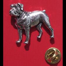 English Pewter Dog, Rottweiler Pin Badge Tie Pin / Lapel Badge (XTSBPD15)