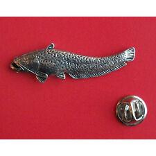 English Pewter  Fish Fishing WELLS CATFISH Pin Badge Tie Pin / Lapel Badge F46