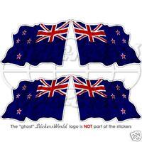 """New Zealand Flying Flag Vinyl Bumper-Helmet Stickers, Decals 50mm (2"""") x4"""