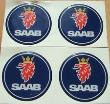 "4 saab emblem badge ALLOY wheel center hub caps 2 3/8"""
