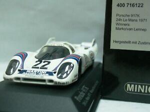 WOW EXTREMELY RARE Porsche 917 Lennep Winner Le Mans 1971 1:43 Minichamps-Spark