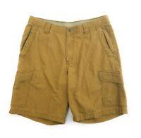 Columbia Mens Omni-Shade Cargo Shorts Size 34 Brown Hiking 6 - Pocket Shorts