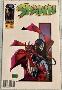 Spawn #21 NM- RARE Newsstand Edition 1994 Image Comics Todd McFarlane