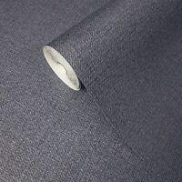 Vinyl non woven Navy Blue textured Wallpaper faux fabric textures wallcoverings