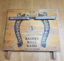 """1924  """"55"""" Or Bust 16"""" x 19"""" Carnival Basketball Game  As Is"""