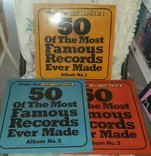 FROM THE GOLDEN YEARS 50 OF THE MOST FAMOUS RECORDS EVER MADE LP set of 3