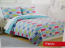New IZOD 2-piece Twin Quilt and Pillow Sham Set - SUMMER STRIPE NIP