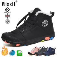 Boys Girls Winter Snow Boots Fur Lined Waterproof Sneakers Outdoor Walking Shoes
