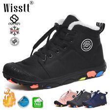 Boys Girls Winter Snow Boots Fur Lined Waterproof Sneakers Outdoor Walking Shoes