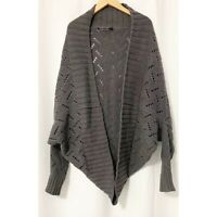 Peruvian Connection Cocoon Open Cardigan Size Medium/Large Dolman Sleeves