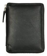 Men's genuine leather metal zipper (zip-around) wallet Kabana. Ship Worldwide.