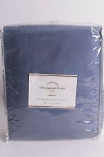 New Pottery Barn Silk Dupioni drape panel blue lagoon 104x124 doublewide