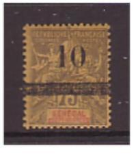 Senegal - SG 28 - m/m - 1903 - 10 on 75c brown/orange