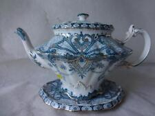 Antique b&l Burgess & Leigh Middleport Pottery transferware York Théière & Stand