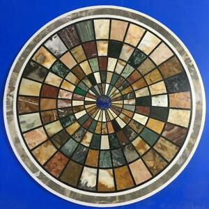 "30"" Marble coffee Table PietraDura multi color Work furniture home decor"