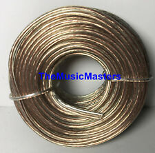 Car Audio Home Stereo SPEAKER WIRE 16 Gauge 50' ft Clear HD Quality Cable VWLTW