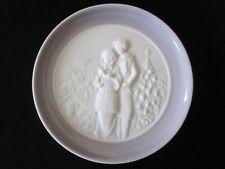 "Euc Vintage Lladro Bisque Porcelain Christmas Carolers Pin Trinket Dish 4"""