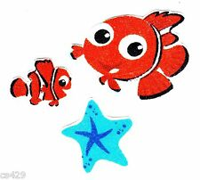 "1.5"" DISNEY FINDING NEMO FISH OCEAN CHARACTER FABRIC APPLIQUE IRON ON"